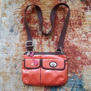 Fossil adjustable crossbody purse